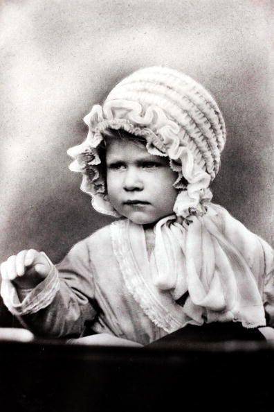 *HRH PRINCESS ELIZABETH:   (Queen Elizabeth II) wearing a cute bonnet, c. 1927