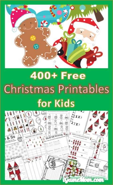 400 free christmas printable worksheet for kids - Free Printable Holiday Worksheets