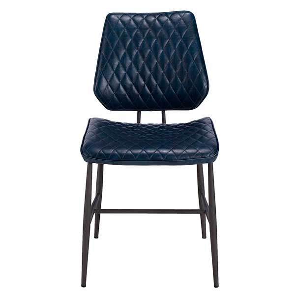 Hawley Quilted Dining Chair Dark Blue Barker Stonehouse