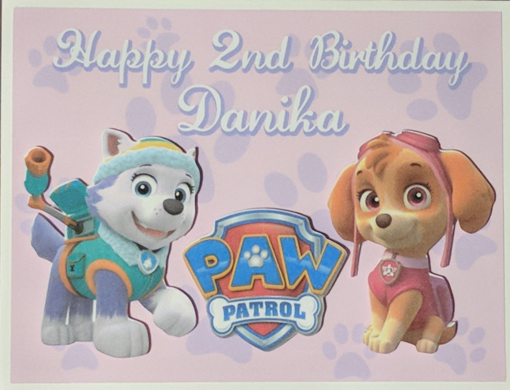 paw patrol birthday card  paw patrol birthday paw patrol