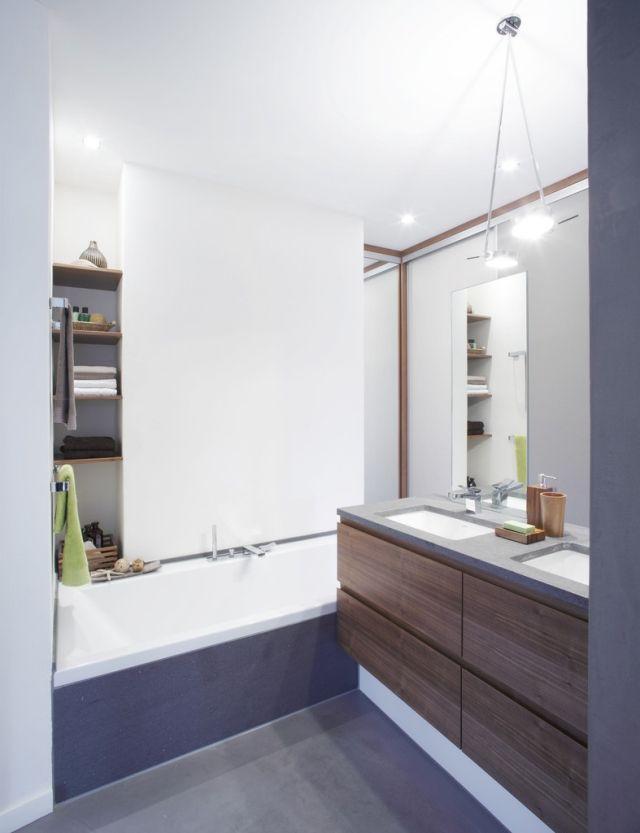 ideen-kleine-bader-badewanne-regale-nische-holz-waschtisch | Deko ...