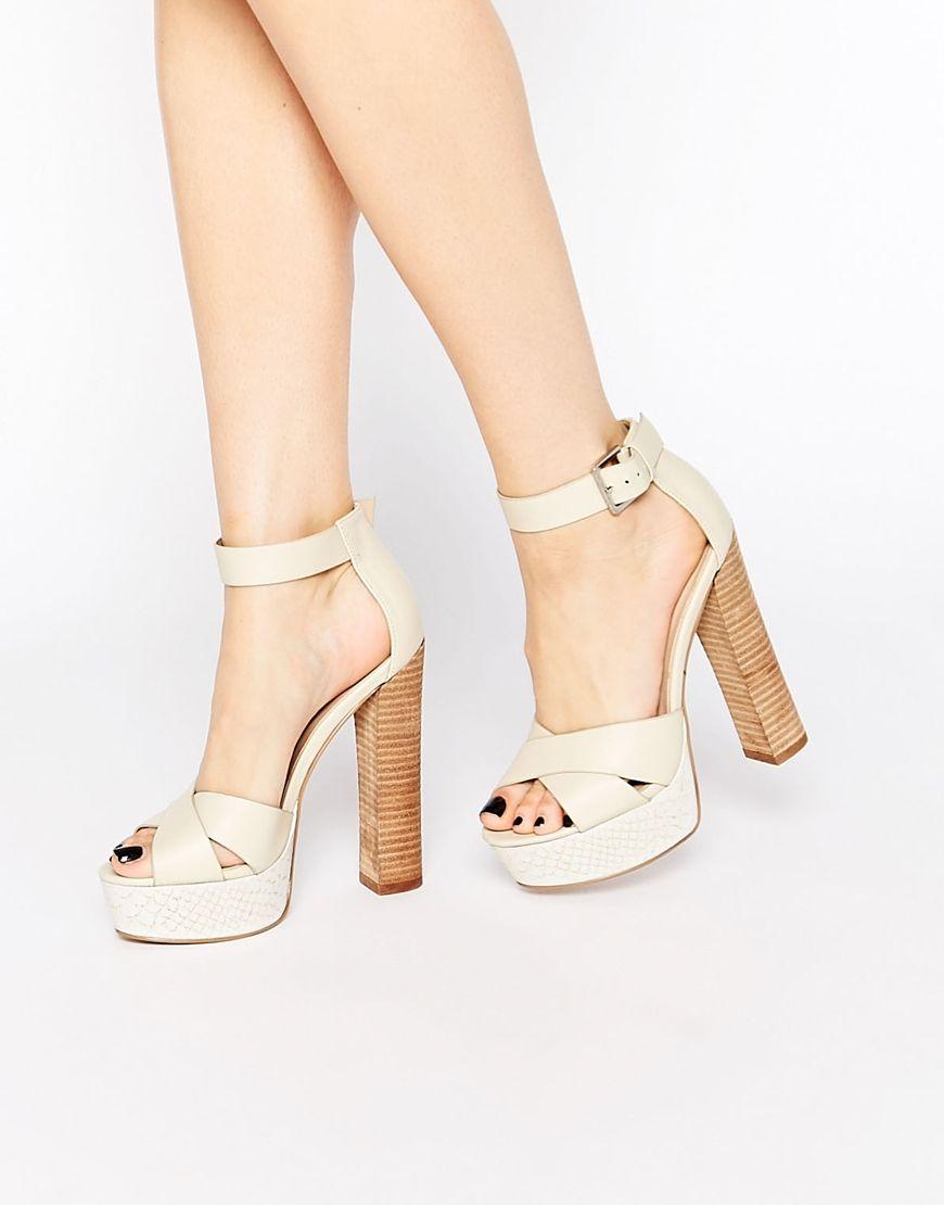 cec48d2493a Image 1 of ASOS TEGAN Platform Heeled Sandals