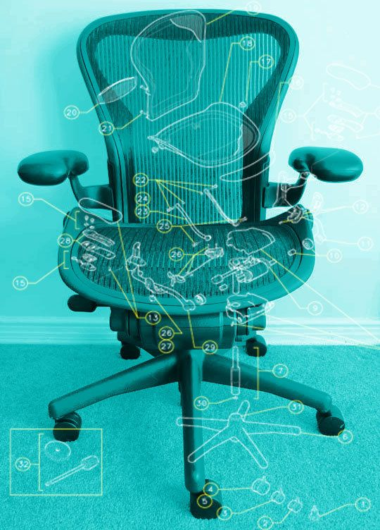 How To Refurbish A Herman Miller Aeron Task Chair Chair Repair Home Office Decor Home Office Furniture