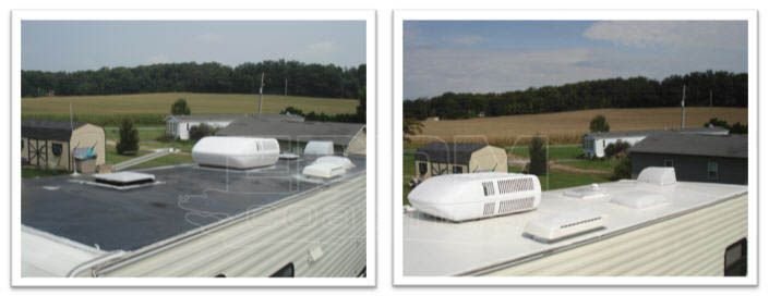 Easiest Way Of Application Of Liquid Roof If Your Rvs Roof Has Sprung A Leak There S No Need To Panic The Repai Roof Leak Repair Roof Repair Rv Roof Repair