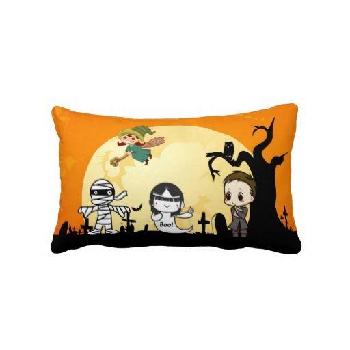 Cute Mummy Ghost Witch Priest - Kids Halloween Pillow