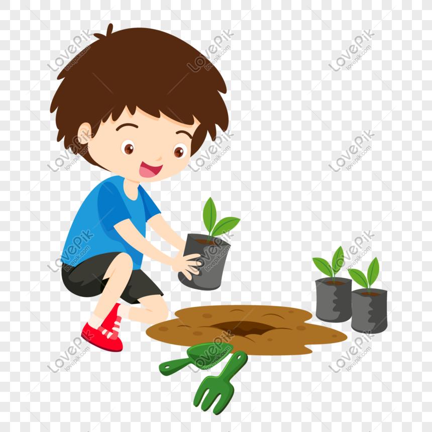 فتى لطيف يزرع شتلات صغيرة Web App Design Cute Boys Vi Design