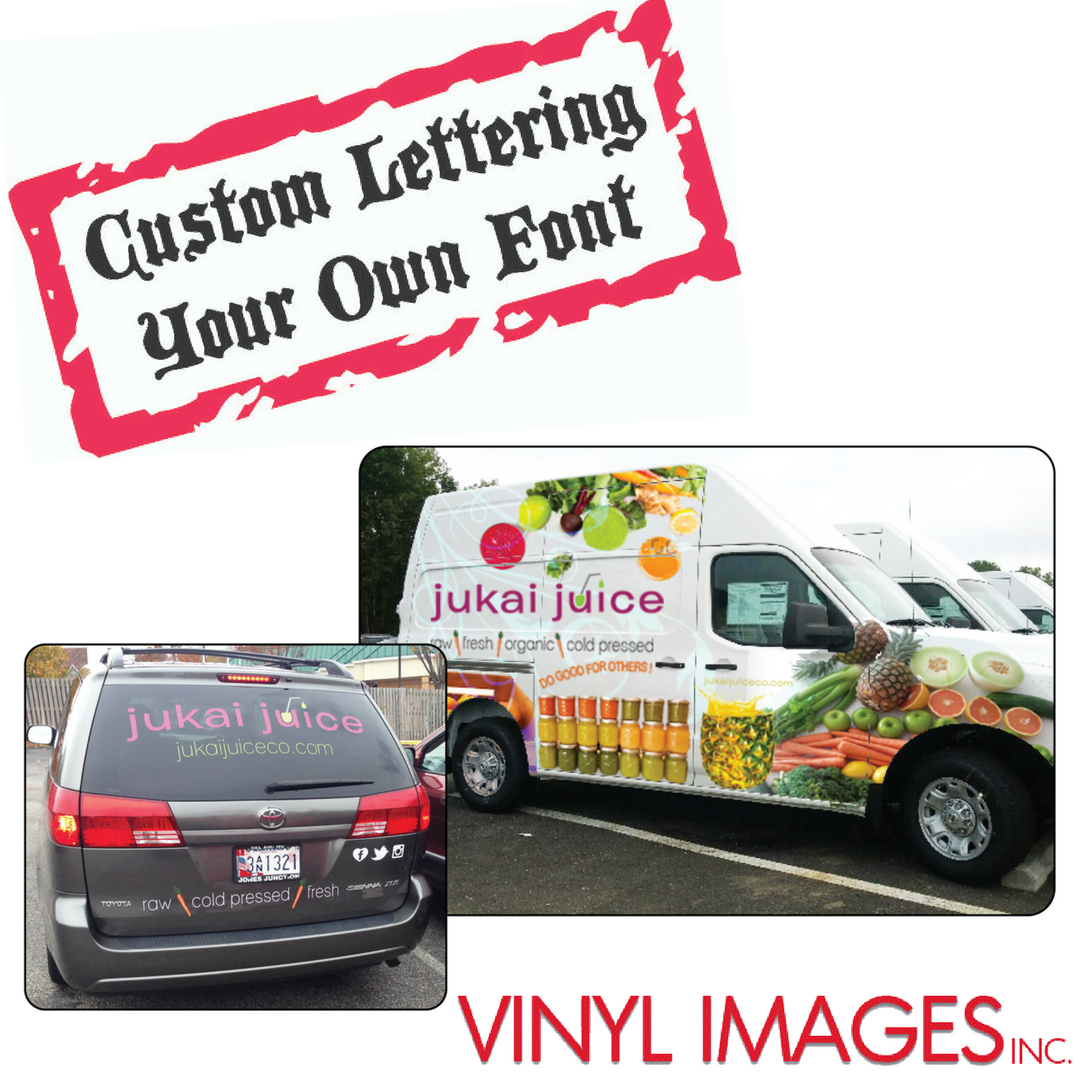 Get custom lettering that suits your business or personality
