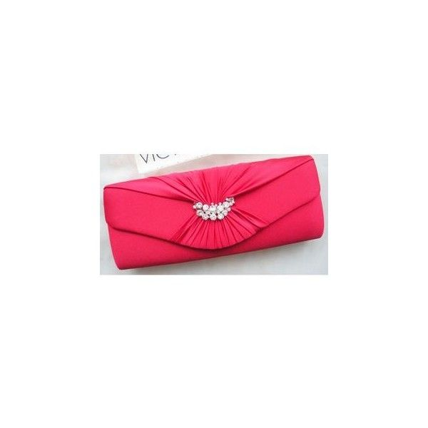 Rhinestone Evening Clutch ($40) ❤ liked on Polyvore featuring bags, handbags, clutches, accessories, special occasion clutches, cocktail purse, pink handbags, rhinestone clutches and special occasion purses