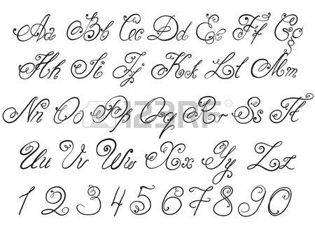 Lettere Disegnate A Mano Di Alfabeto Calligrafico Disegnato A Mano