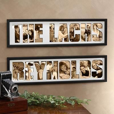 Unique Gift Idea - Personalized Name Photo Collage Frame