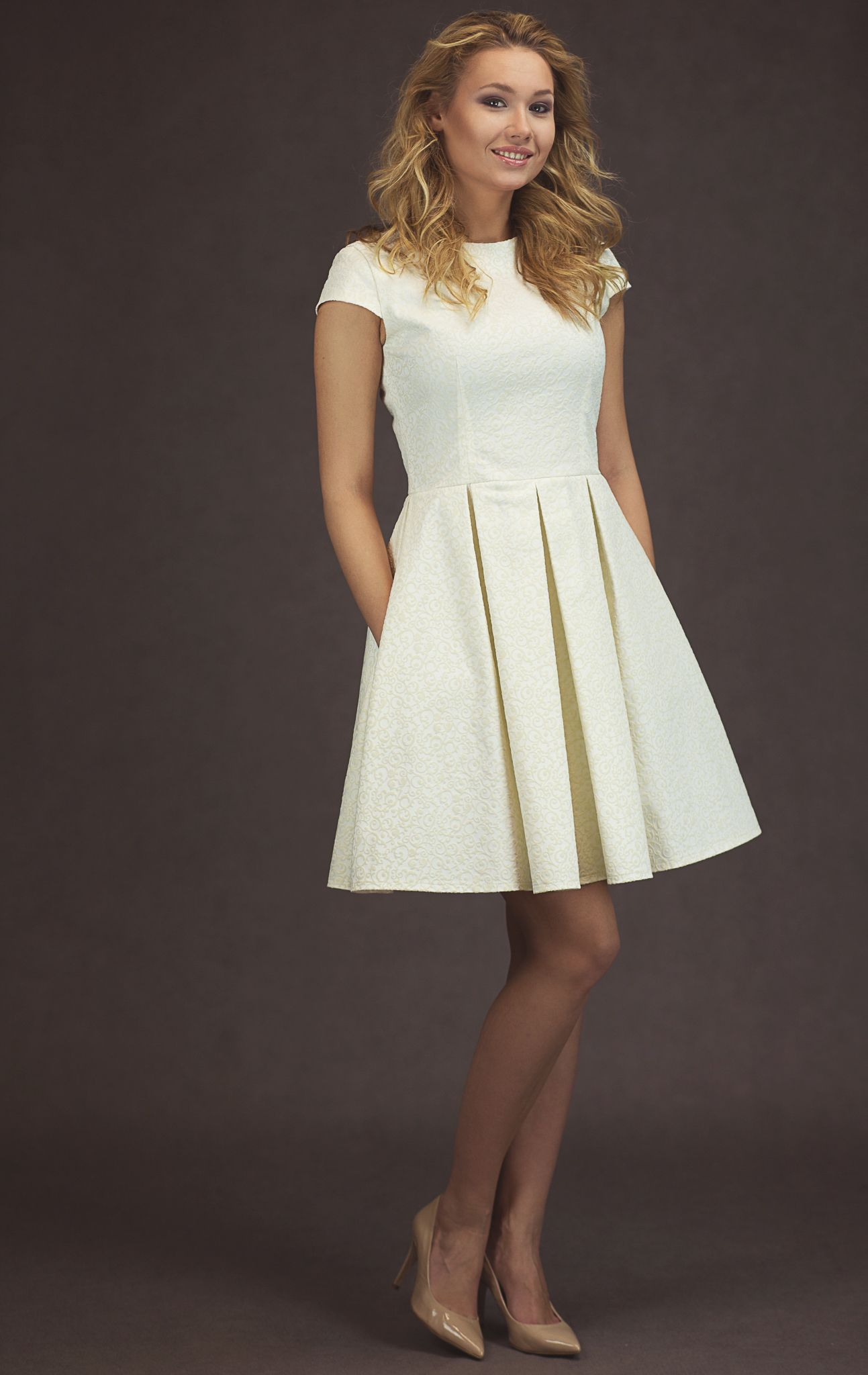 Moosu Milk White Jacquard Dress Designed By La Boutique More About Us