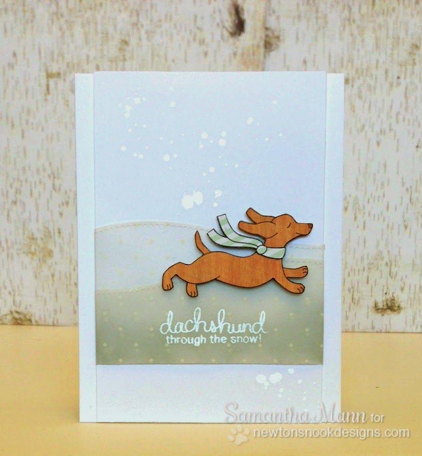 Sam\'s Scrap Candy - Dachshund dog Christmas Card by Samantha Mann ...