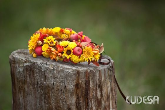 "Wreath and boutonniere ""Colors of Autumn""  by Smorodinskaya  Ukraine"