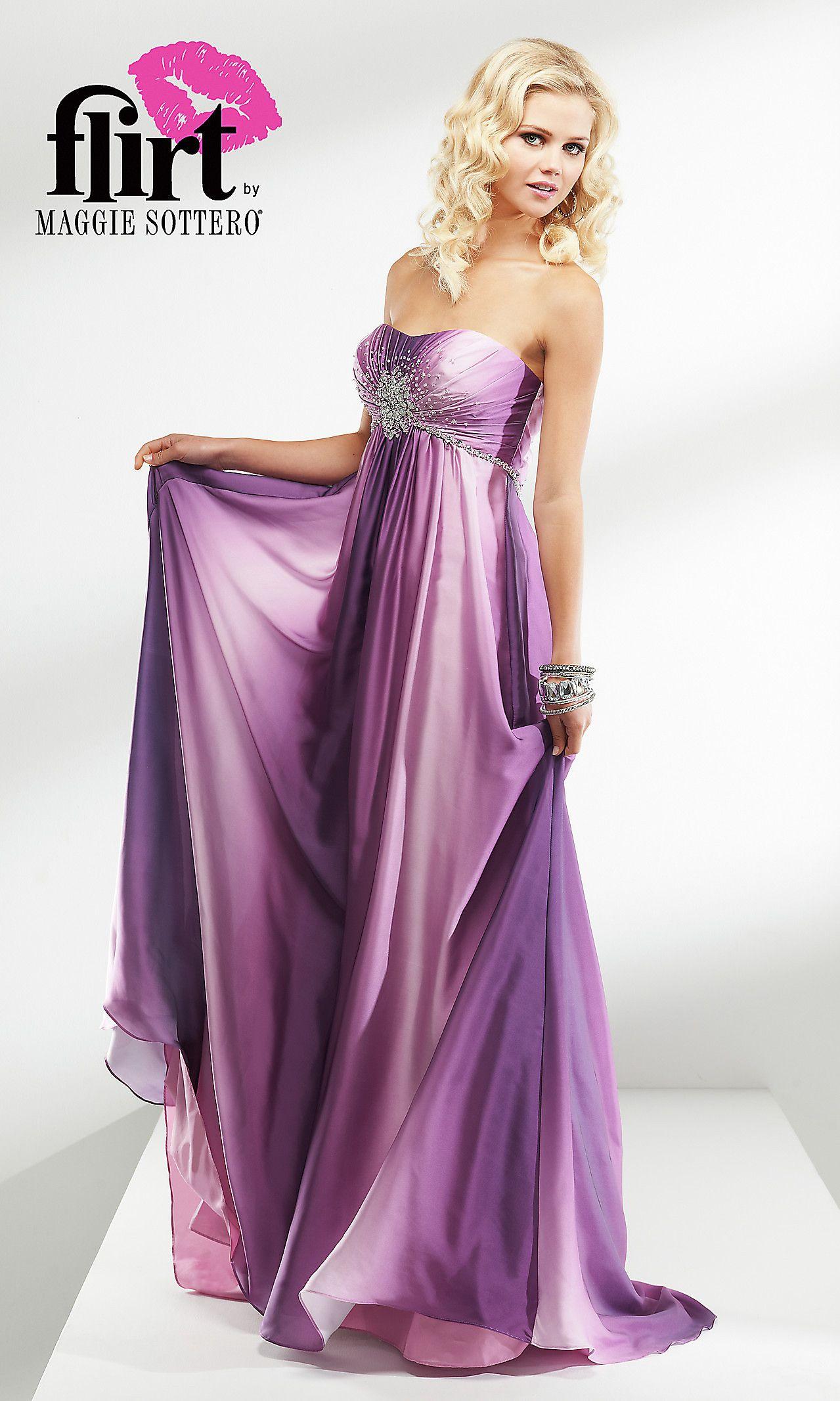 Strapless Ombre Prom Dress by Flirt FL-P4623 | I love | Pinterest