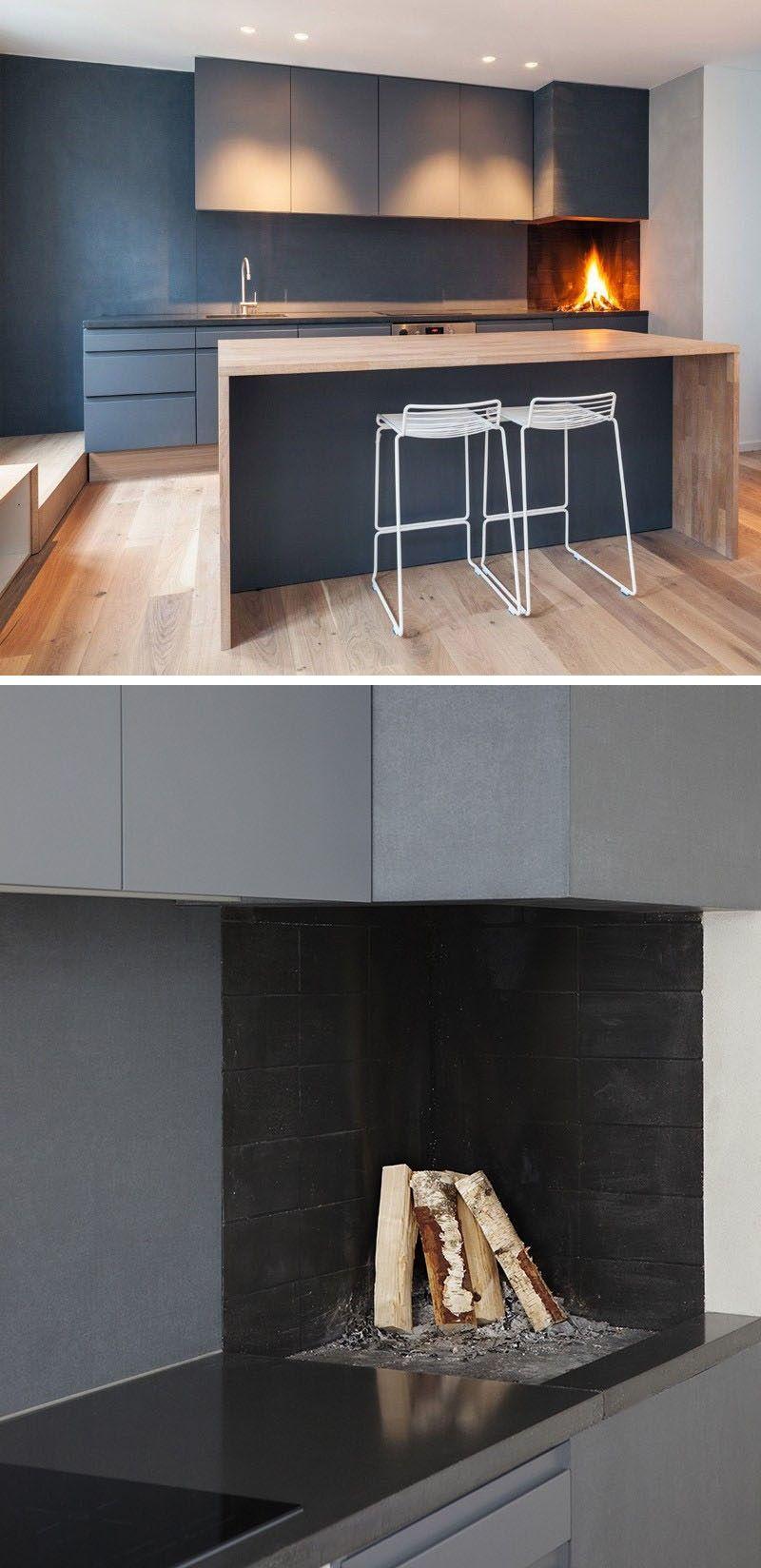Küche Design Ideen gehören A gebaut In Holz Feuer Ofen oder Pizza ...