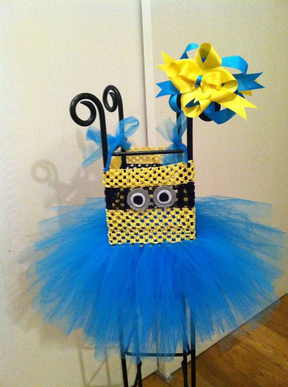 Little Minion tutu halloween costume - i die.