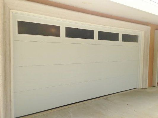 Flush Panel Garage Doors With Windows   Google Search