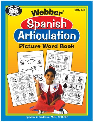 webber spanish articulation picture word book for 18 sounds 1728 picture words book. Black Bedroom Furniture Sets. Home Design Ideas
