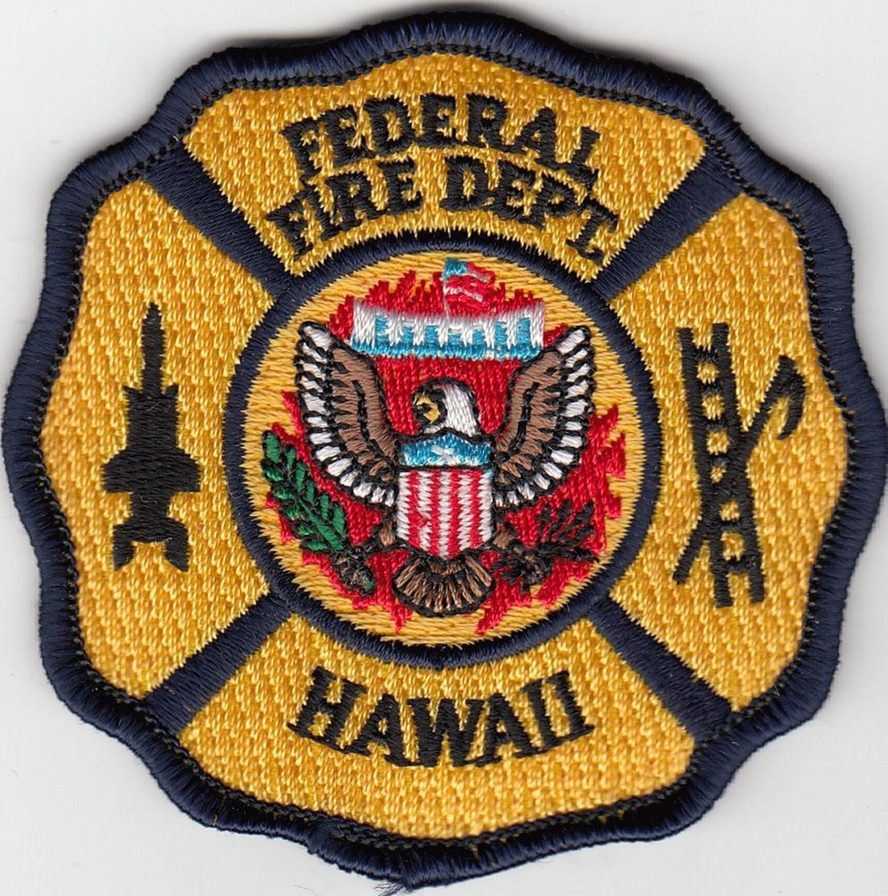 FEDERAL FIRE DEPARTMENT HAWAII FIREFIGHTING RESCUE PATCH