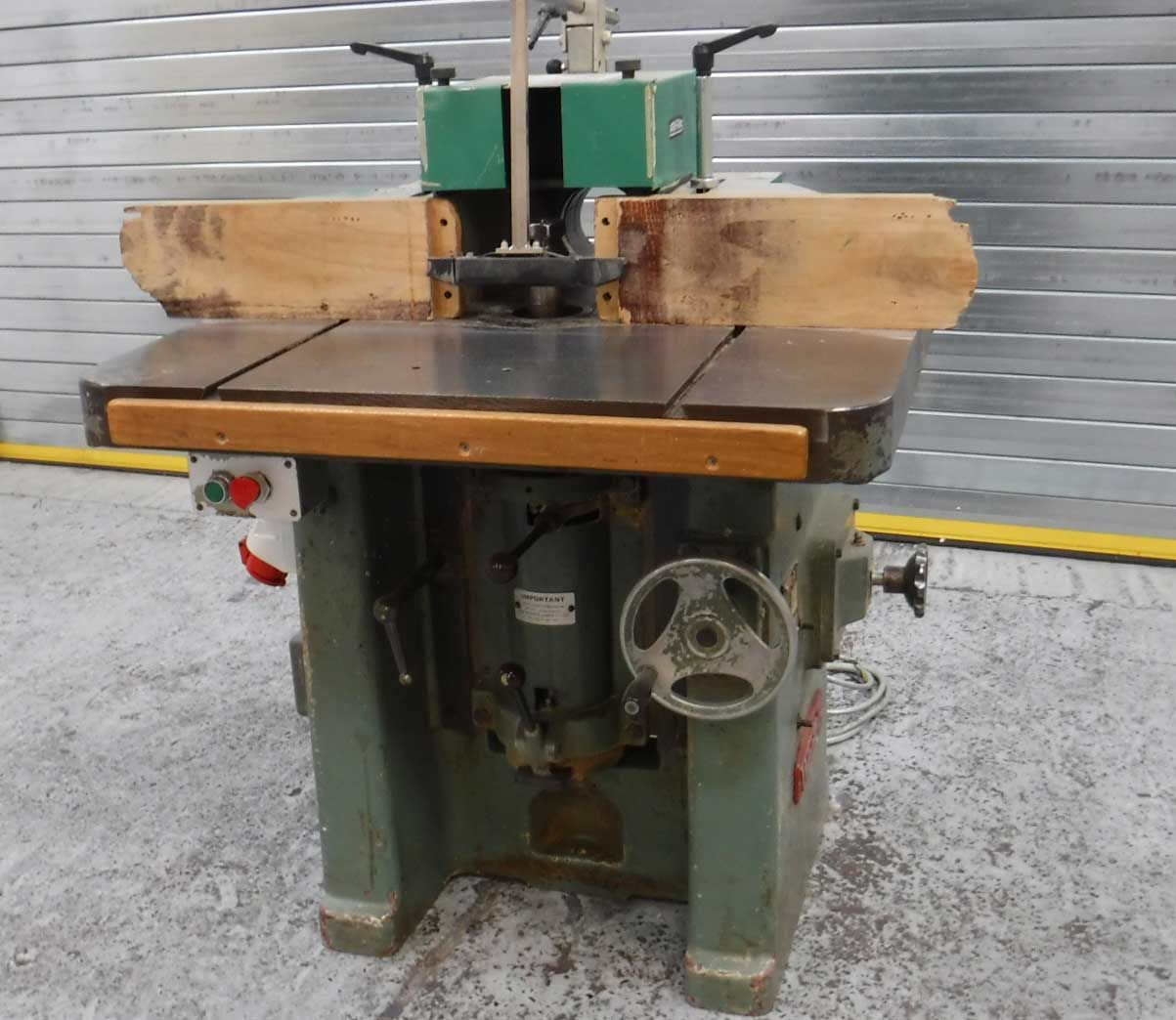 Used Wadkin EQ Spindle Moulder Antique sewing table