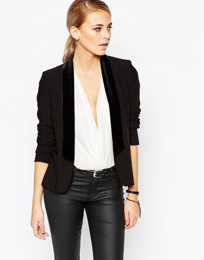 Model wears Premium Tuxedo Jacket for lookbook Photoshoot 0e650951c
