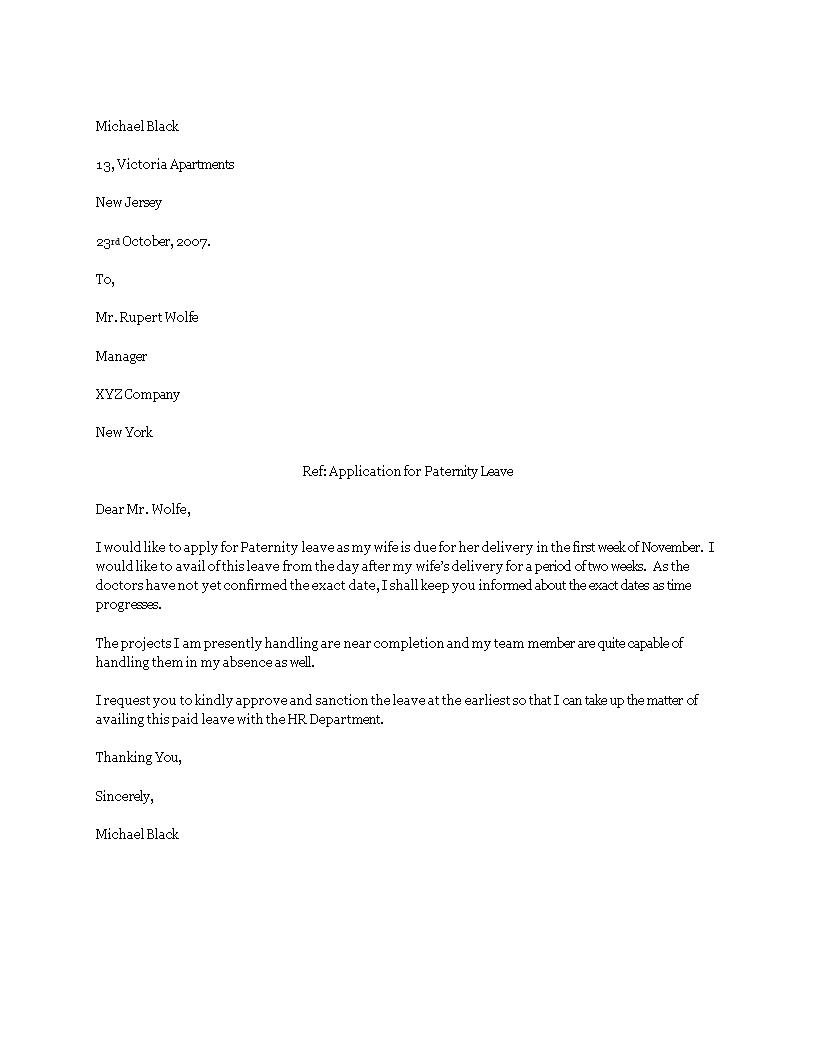 03f44f877048ee78c32c12ce04b45d30 - How To Write Paternity Leave Application