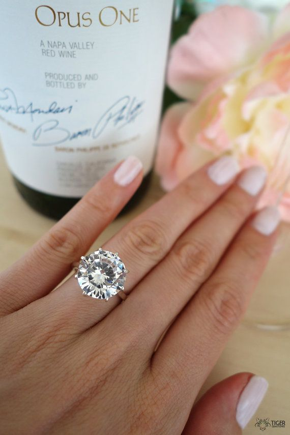 9 Carat Round Cut Solitaire Engagement Ring Promise Ring