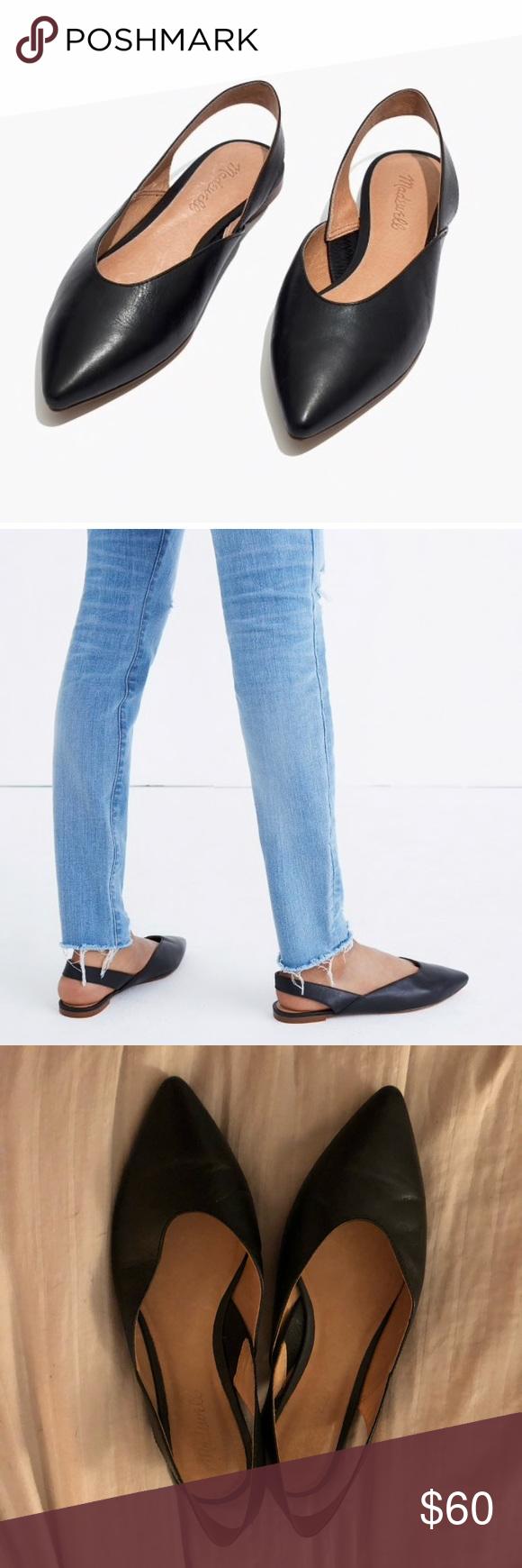 Madewell Ava Slingback Flat Leather