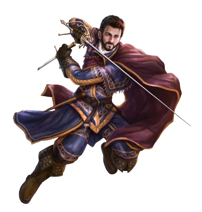 Fantasy Art Swashbuckler Duelist