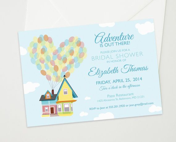 Bridal Or Baby Shower Invitation Inspired By The Disney Pixar Movie