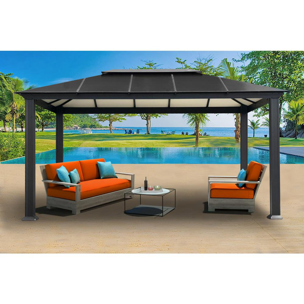 Paragon Outdoor Gz3xl Santa Monica Xl Aluminum Gazebo Patio Gazebo Aluminum Gazebo Gazebo
