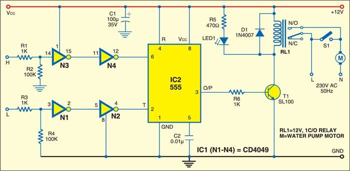 03f4822ac4f49ea7f2ba9b65604cf731 simple automatic water level controller electronics pinterest water level controller wiring diagram at soozxer.org