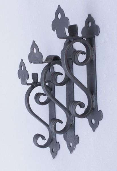 Spanish Colonial Style Wrought Iron Curtain Rod Brackets