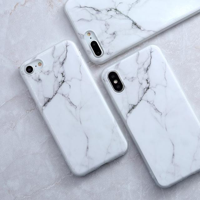 white and gold marble coque iphone 6