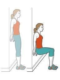 wallsits great end of cardio add fitness exercise