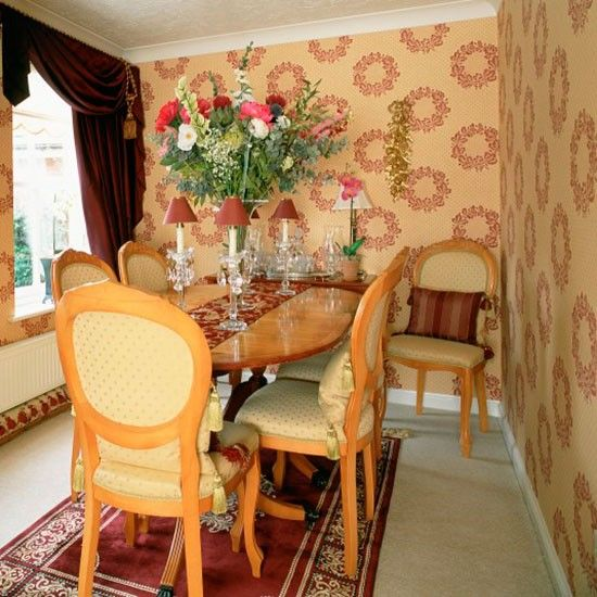 Small dining room with traditional features