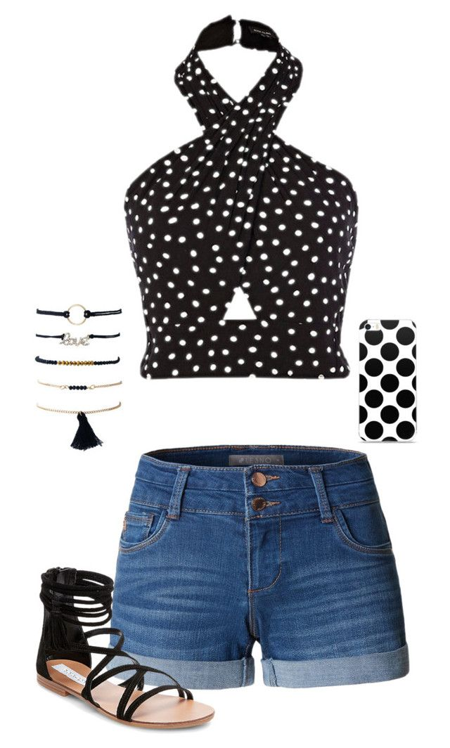 """""""Untitled #417"""" by abby-fashions ❤ liked on Polyvore featuring LE3NO and Steve Madden"""