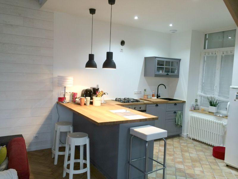 cuisine ralise pont labb par alexandre le berre cuisine plan - Peindre Carrelage Plan De Travail Cuisine
