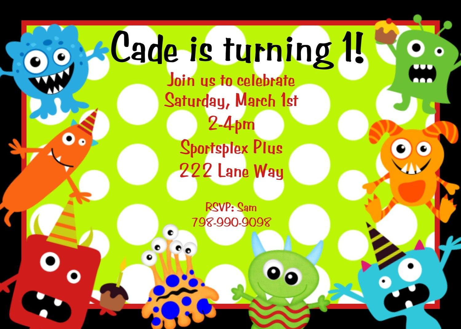 Monsters train bday pinterest monster birthday invitations little monster birthday invitation monster birthday party invitations printable digital boys or girls filmwisefo Image collections