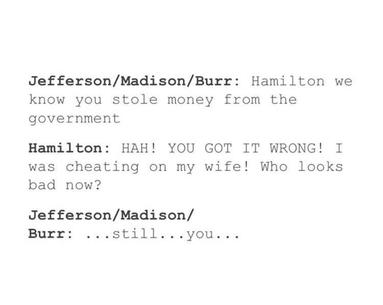 at least he was honest with our money *shrug* hamilton - sample musical theatre resume