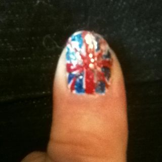 Thumb of my jubilee nails