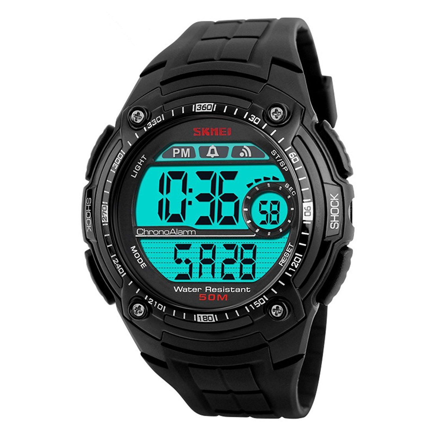 Lige Waterproof Sports Watches Men Multifunction Led Digital Watch Big Number Dial Black Read More Revie Mens Sport Watches Military Watches Watches For Men