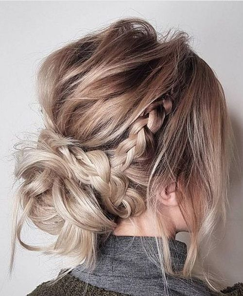 17 Best Hair Updo Ideas For Medium Length Hair Best Hairstyle Ideas Updos For Medium Length Hair Medium Hair Styles Braided Hairstyles For Wedding