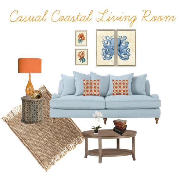 Casual Home Office Ideas: Casual Coastal Living Room