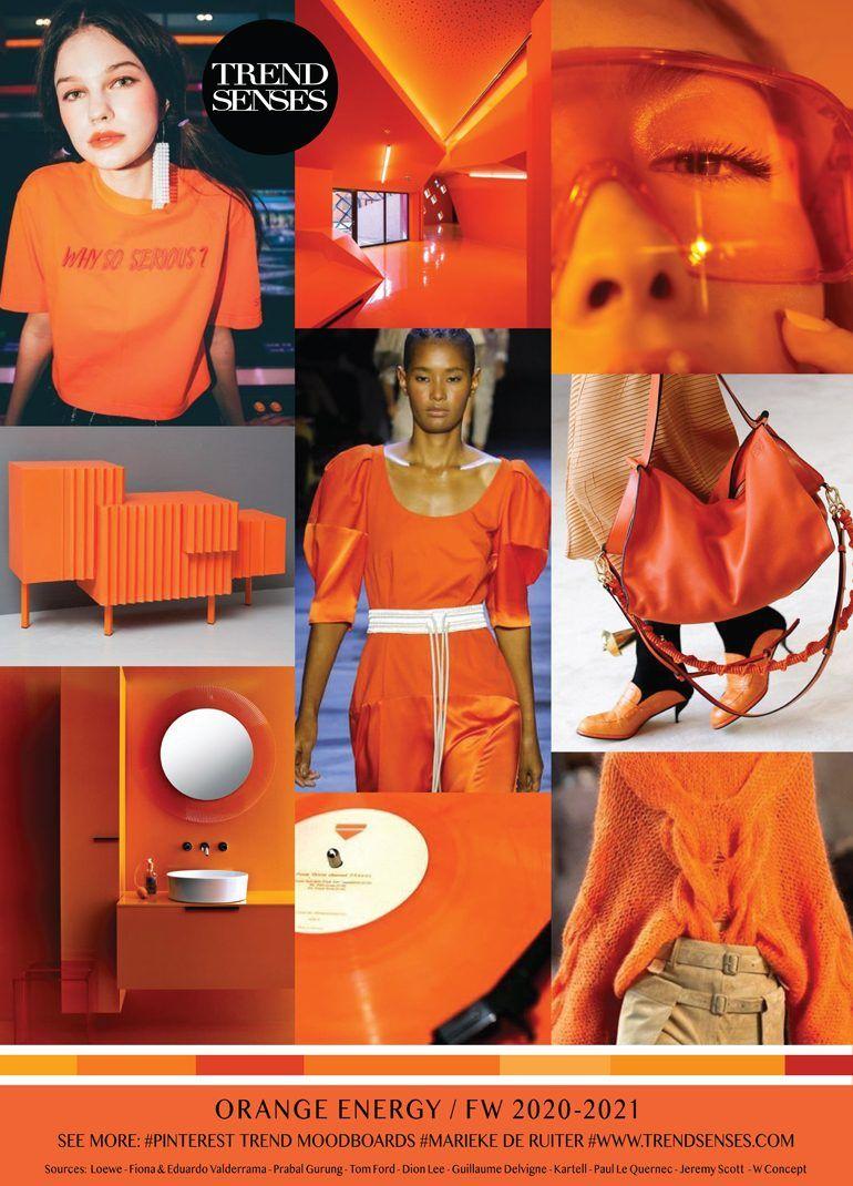 Fall Winter 2020 2021 Trends.Moodboard Orange Energy Fall Winter 2020 2021 Fashion