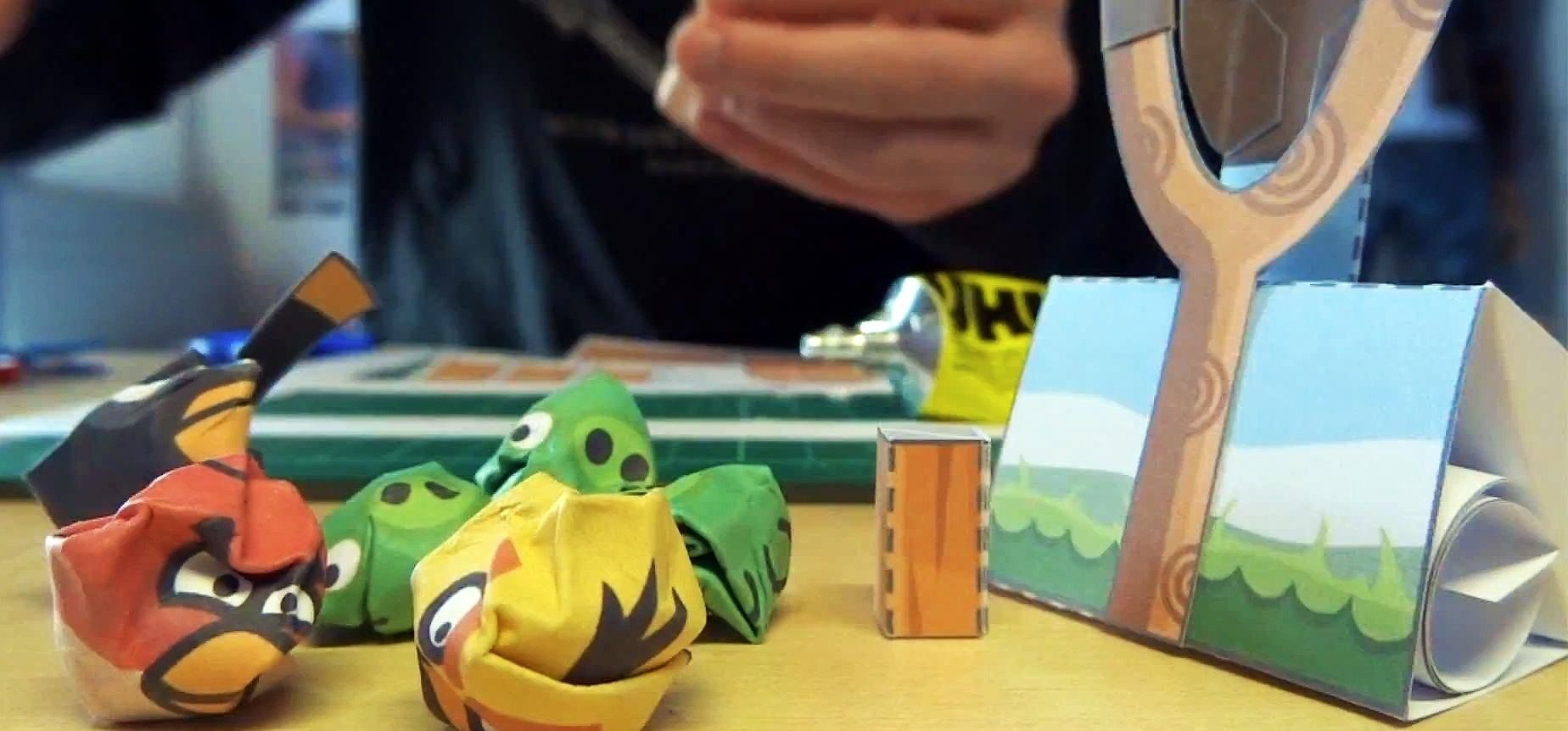 How to Make Your Own Playable Papercraft Version of Angry