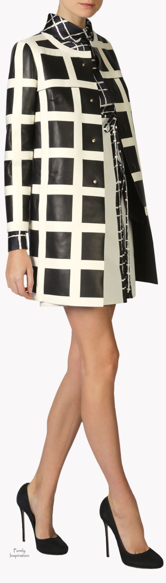 Dsquared2 Leather Check 60's Coat