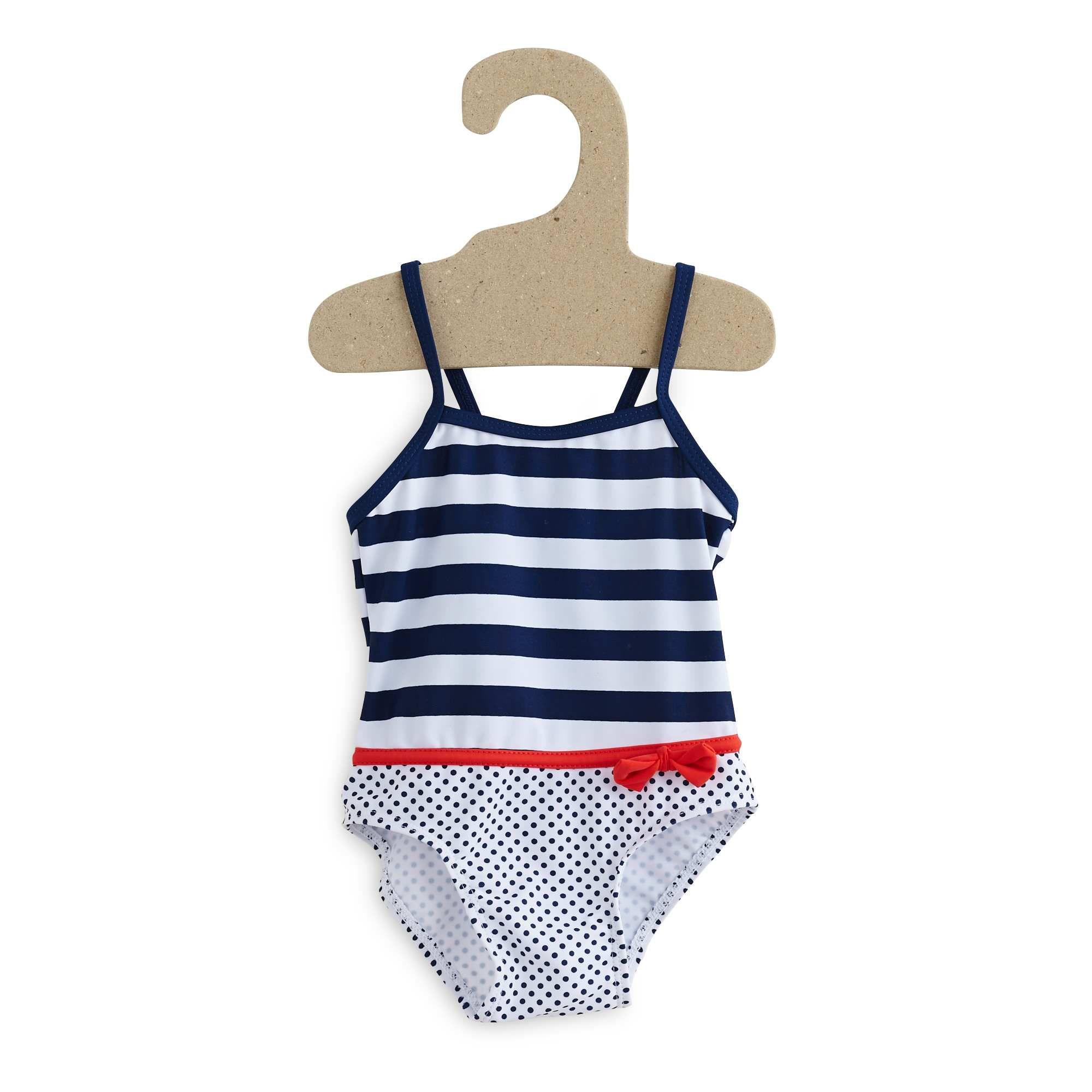 Bañador a rayas a rayas azul Bebé niña