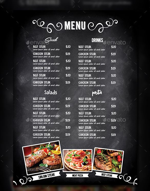 Imagen relacionada mika Pinterest Menu restaurant, Menu and - menu template for word