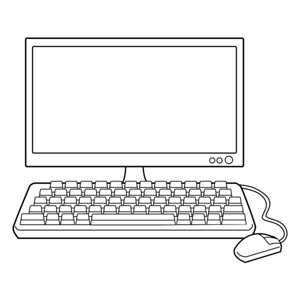 Line Art Laptop : Computer clip art black and white liked on polyvore